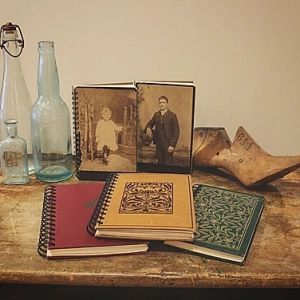 CABINET CARDS AND OLD BOOKS