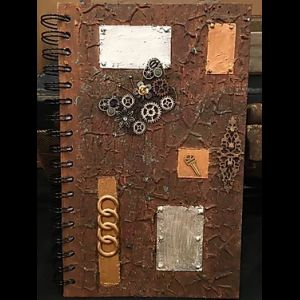 TEXTURED STEAMPUNK JOURNAL